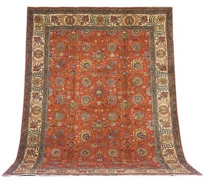 A fine Farsaii Tabriz carpet,