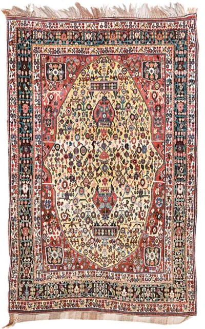An antique Qashqai rug, South-