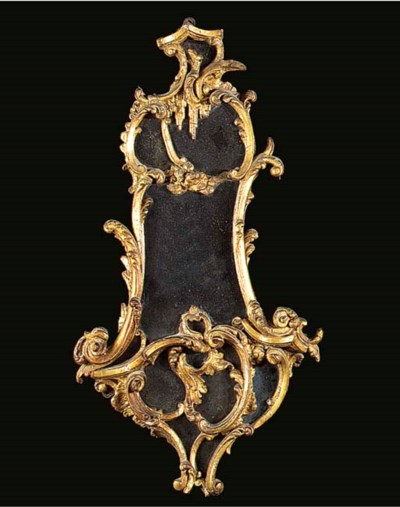 A GEORGE III GILTWOOD CARTOUCH