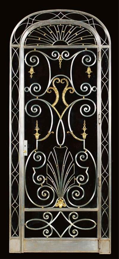 An Art Deco steel door and fra
