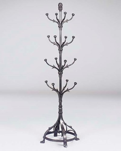 A cast iron hall stand