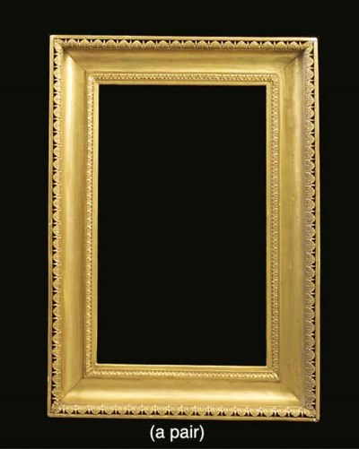 A pair of gilt frames
