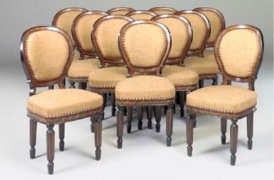 A set of twelve Italian ebonis