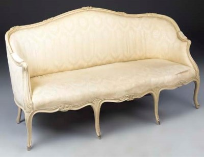 A LOUIS XV LATER WHITE PAINTED