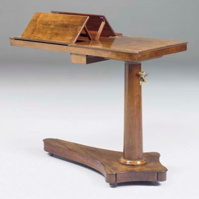 A ROSEWOOD BEDSIDE TABLE