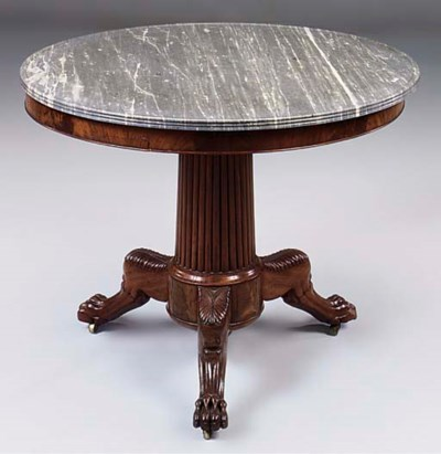 A French mahogany centre table