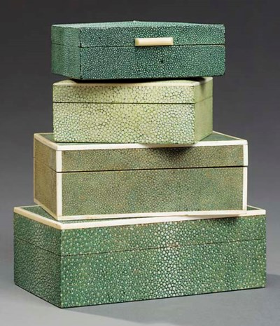 A Shagreen and Ivory covered C