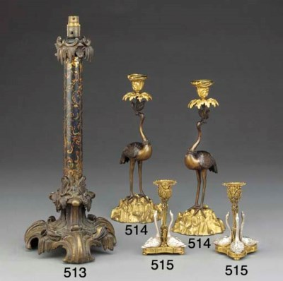 A pair of William IV gilt and