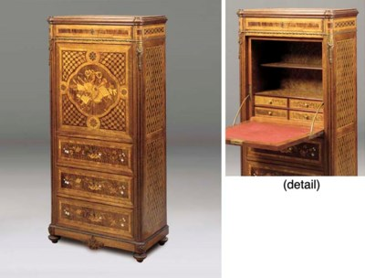 A FRENCH MARQUETRY PARQUETRY O
