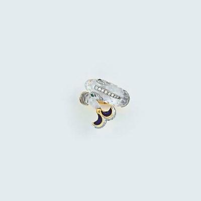 A Webb diamond, emerald, cryst