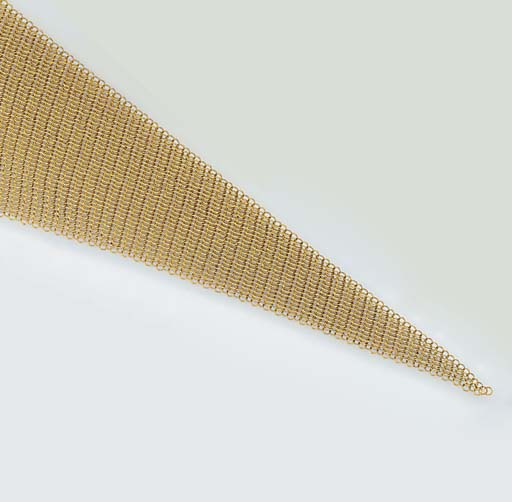 A Tiffany & Co. yellow mesh sc
