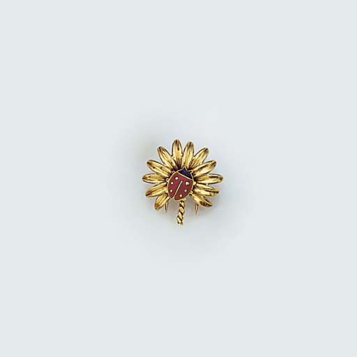 A Cartier Paris gold and ename