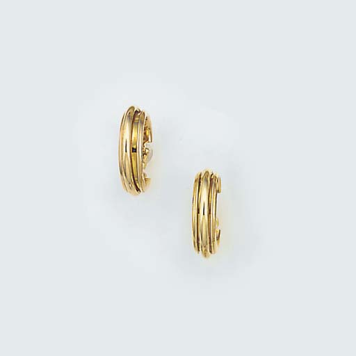 A pair of Piaget hoop earrings