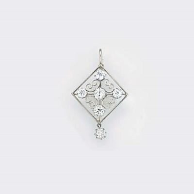 A diamond six stone pendant