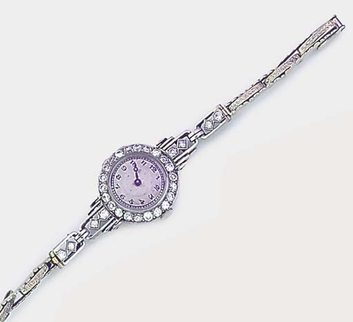 A lady's platinum and diamond