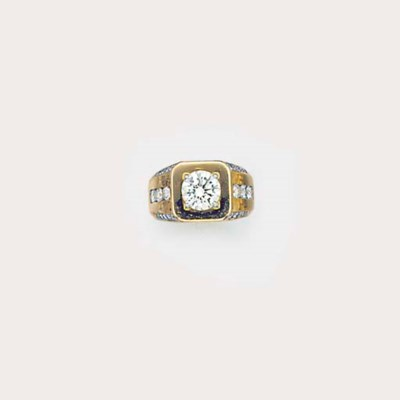 An 18ct gold diamond ring,