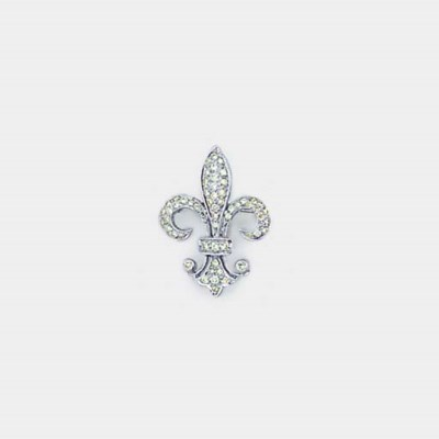 A diamond set fleur-de-lys bro
