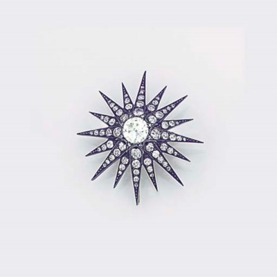 A 19th century diamond star br