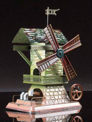 Doll Windmill with Hammer Shed