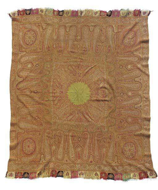 A amli rumal shawl of olive gr