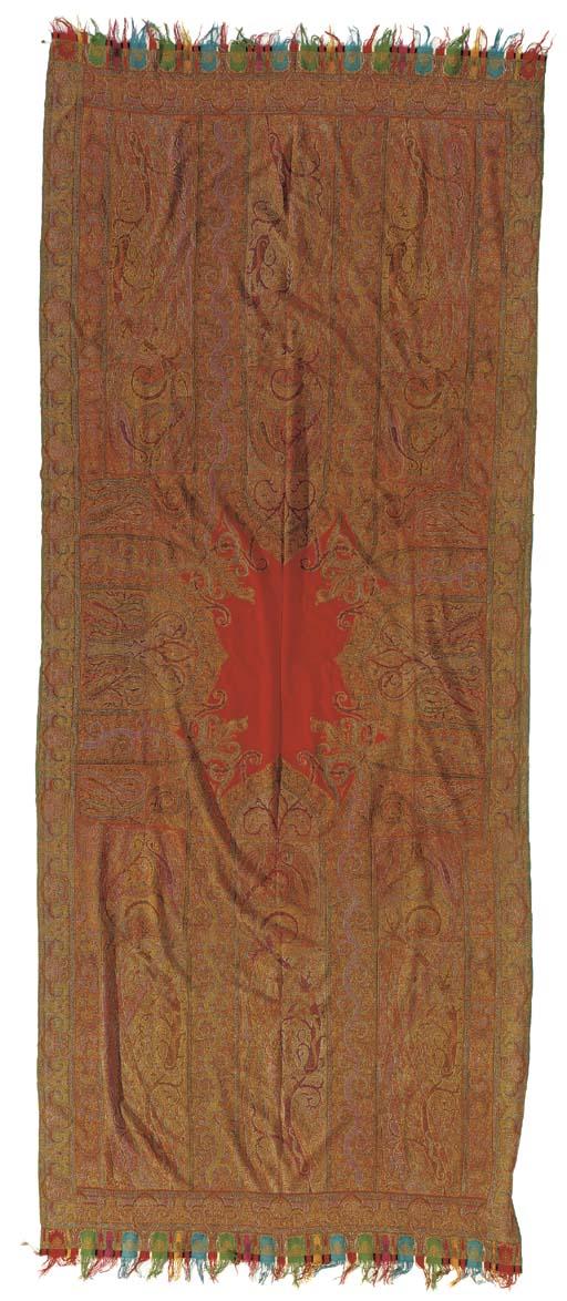 A long jamawar shawl, woven in