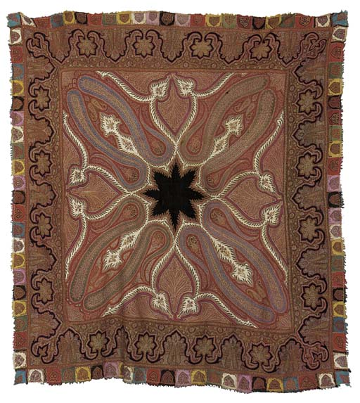 An embroidered amli rumal shaw