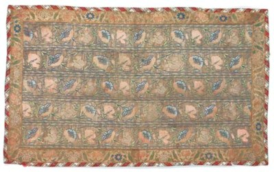 A panel of cloth-of-silver, wo