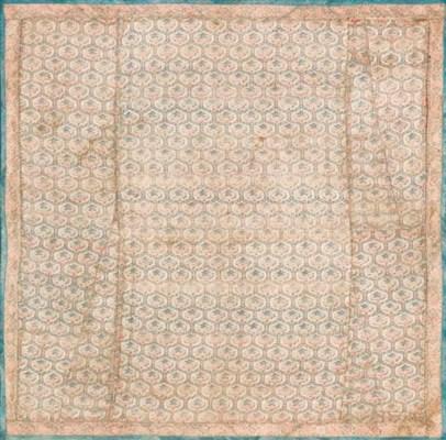 A silk panel, woven with an og