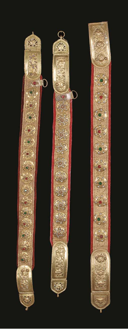 A collection of lady's belts,