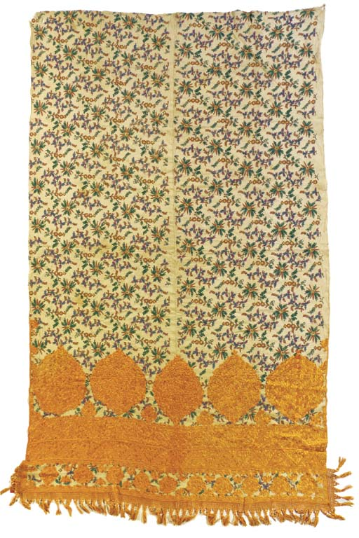 An embroidered mosque curtain,