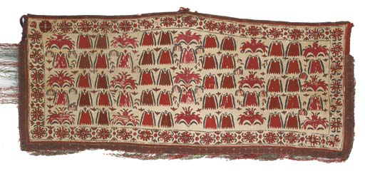 A pair of embroidered asmalyk,