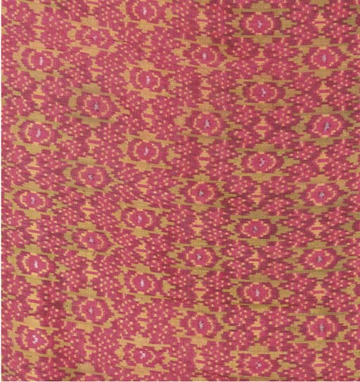 A silk ikat sarong, woven in s