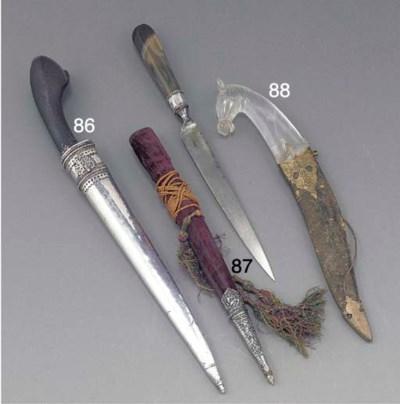 An Ottoman steel dagger with s