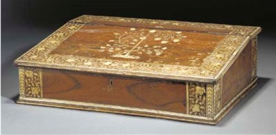 An anglo-Indian writing box an