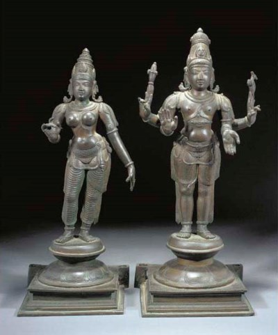 Two large South-Indian bronze