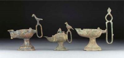 A group of ten Seljuk bronze o