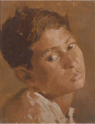 Portrait of a young boy, Calcu