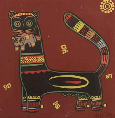 Jamini Roy (1887-1972) Cat hol