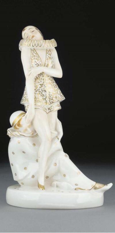 A porcelain figural group