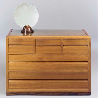 A WALNUT DRESSING CHEST