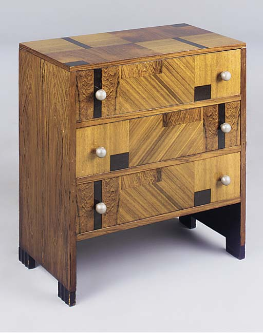A MARQUETRY CHEST