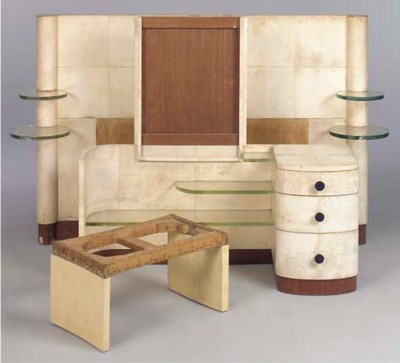 A VELLUM-COVERED BEDROOM SUITE
