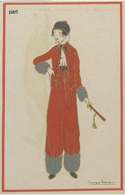 Five pochoir prints