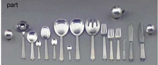 'Pyramid' a silver cutlery ser