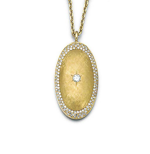 A diamond pendant with chain,
