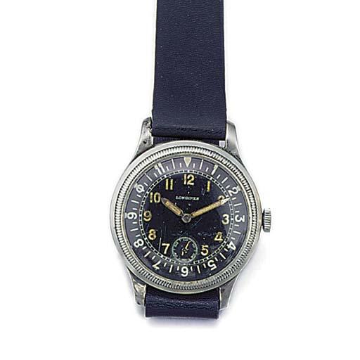 A steel Longines wristwatch wi