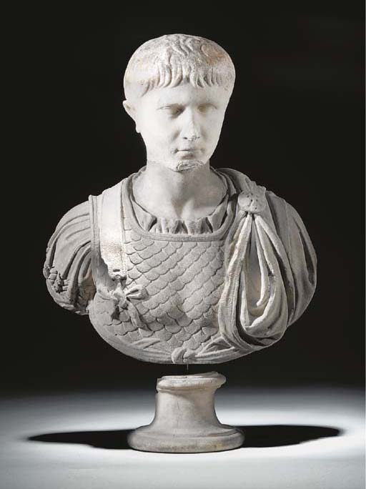 A JULIO-CLAUDIAN MARBLE PORTRAIT HEAD OF A YOUTH