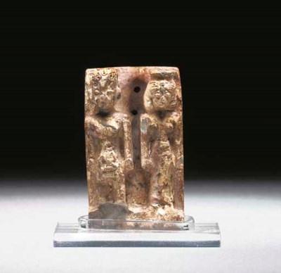 AN EGYPTIAN STEATITE DYAD OF P