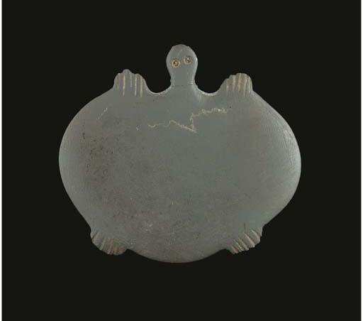 AN EGYPTIAN PREDYNASTIC SLATE TURTLE PALETTE
