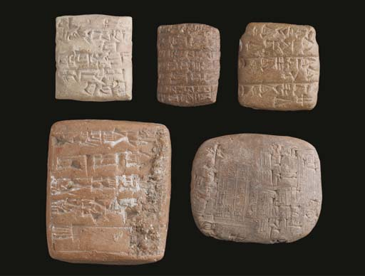 A GROUP OF EIGHT SUMERIAN CUNE